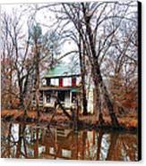 Schuylkill Canal Port Providence Canvas Print by Bill Cannon
