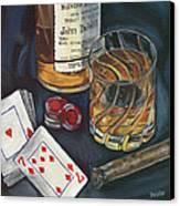 Scotch And Cigars 4 Canvas Print by Debbie DeWitt
