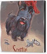 Scottie's Beaming Canvas Print by Shawn Shea