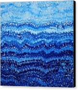 Sea And Sky Original Painting Canvas Print by Sol Luckman