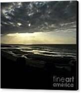 Sea And Stormy Sky Canvas Print by Bernard Jaubert