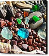 Sea Glass Art Prints Beach Seaglass Canvas Print by Baslee Troutman