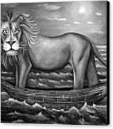 Sea Lion In Bw Canvas Print by Leah Saulnier The Painting Maniac