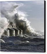 Sea Spray Canvas Print by Barry Goble