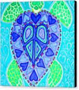 Sea Turtle Swim Canvas Print by Nick Gustafson