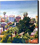 Sea View Del Mar Canvas Print by Mary Helmreich