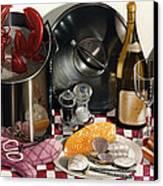 Seafood Serenade 1996  Skewed Perspective Series 1991 - 2000 Canvas Print by Larry Preston