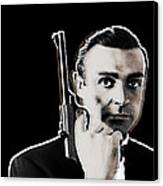 Sean Connery James Bond Vertical Canvas Print by Tony Rubino