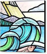 Seascape Canvas Print by Gilroy Stained Glass