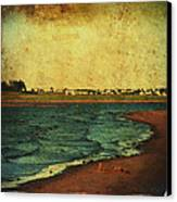Seaside Beach Photograph Coastal Decor Canvas Print by Laura  Carter