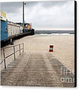 Seaside Heights Beach Canvas Print by John Rizzuto