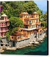 Seaside Villas Canvas Print by Dan Breckwoldt