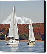 Seasonal Sailing Canvas Print by Susan Leggett