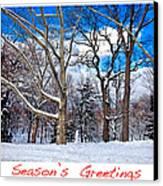 Season's Greetings Canvas Print by Madeline Ellis