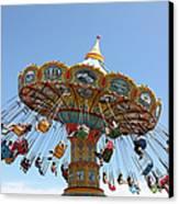 Seaswings At Santa Cruz Beach Boardwalk California 5d23905 Canvas Print by Wingsdomain Art and Photography