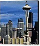 Seattle Skyline Canvas Print by Benjamin Yeager