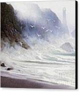 Seawall Canvas Print by Robert Foster