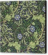 Seaweed Wallpaper Design Canvas Print by William Morris