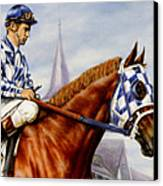 Secretariat At Churchill Canvas Print by Thomas Allen Pauly