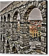 Segovia Aqueduct - Spain Canvas Print by Juergen Weiss