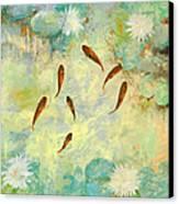 Sei Pesciolini Verdi Canvas Print by Guido Borelli