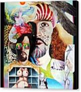 Selfportrait With The Critical Eye Canvas Print by Otto Rapp