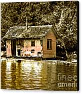 Sepia Floating House Canvas Print by Robert Bales