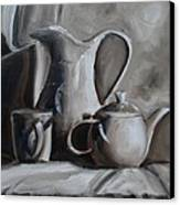Sepia Still Life Canvas Print by Donna Tuten