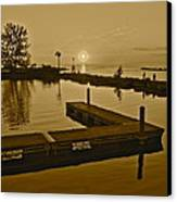 Sepia Sunset Canvas Print by Frozen in Time Fine Art Photography