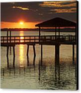 Setting Sun Canvas Print by Phill Doherty