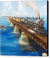 Seven Mile Bridge Canvas Print by Christopher Jenkins