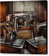 Sewing - A Chorus Of Three Canvas Print by Mike Savad