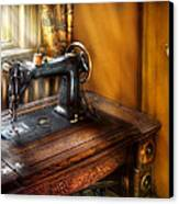 Sewing Machine  - The Sewing Machine  Canvas Print by Mike Savad