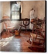 Sewing - Room - Grandma's Sewing Room Canvas Print by Mike Savad