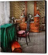 Sewing - Sewing Can Be Rewarding Canvas Print by Mike Savad