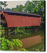 Shaeffer Or Campbell Covered Bridge Canvas Print by Jack R Perry