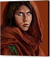 Sharbat Gula Canvas Print by Reggie Duffie