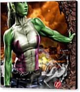 She-hulk Canvas Print by Pete Tapang
