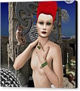 She Returns In Dreamland Canvas Print by Keith Dillon
