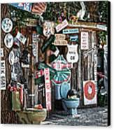 Shed Toilet Bowls And Plaques In Seligman Canvas Print by RicardMN Photography