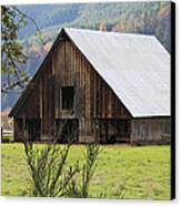 Sheep Barn Canvas Print by Katie Wing Vigil