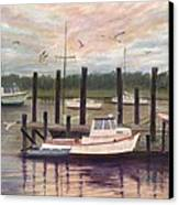 Shem Creek Canvas Print by Ben Kiger