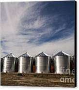 Shiny Silos Canvas Print by Juan Romagosa