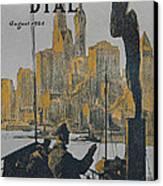 Ship Approaching Land Canvas Print by Edward Hopper