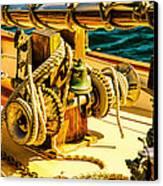 Ships Bell Sailboat Canvas Print by Bob Orsillo