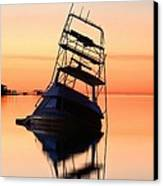 Shipwrecked In Navarre Canvas Print by JC Findley