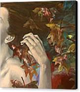 Shivers Canvas Print by Dorina  Costras