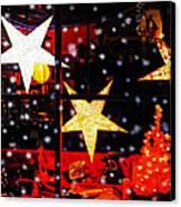 Shop Window On Christmas Eve Canvas Print by Terril Heilman