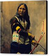 Shout At Oglala Sioux  Canvas Print by Heyn Photo