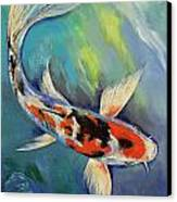 Showa Butterfly Koi Canvas Print by Michael Creese